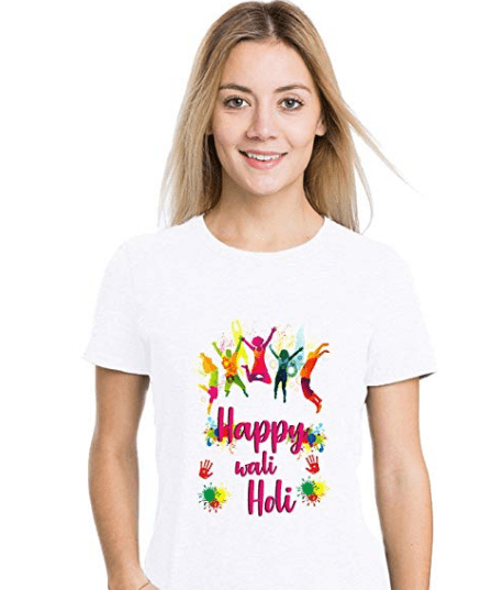 Casual Printed Holi Special T Shirt